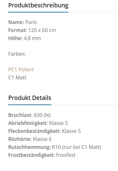 Fliesenhandel Würzburg - patis Produktbeschreibung