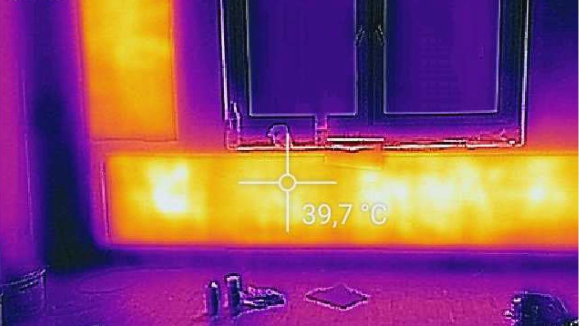 Carbon 4 - Heizanstrich Rohbau Infrarot Ansicht